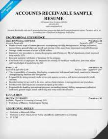 accounts receivable resume summary accounts receivable resume sle template design