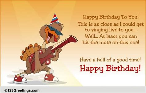 birthday performance  songs ecards greeting cards