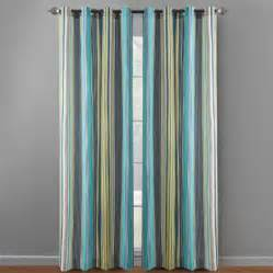 waverly 174 84 blue stripes indoor outdoor curtains set of