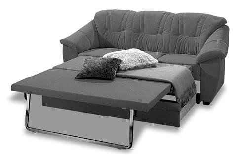 leder 3er sofa savona mit schlaffunktion schwarz mit federkern sofas zum halben preis