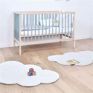 tapis nuage blanc en coton chambre bebe With tapis nuage chambre bébé