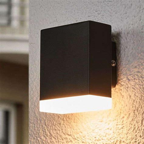 compra aplique de pared exterior led moderno aya negro