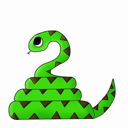 Snake Clipart Animated Animation Transparent Snakes Anime