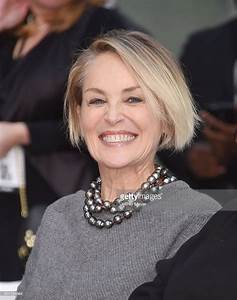 Actress Sharon Stone attends actor Jeff Bridges' hand and ...