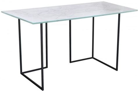 plateau de bureau verre imprim 233 bureau pas cher