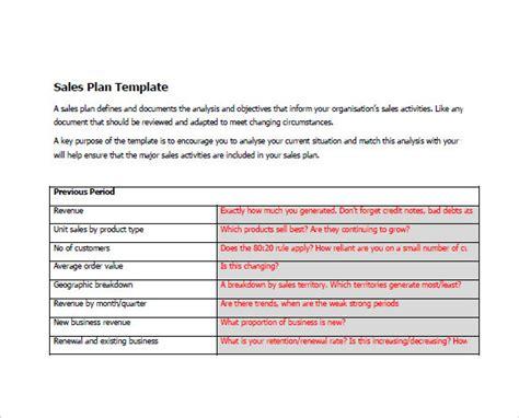 sales plan samples  google docs ms word