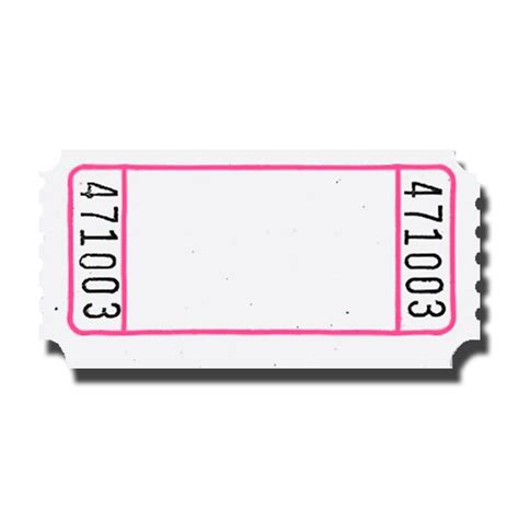 Ticket Stub Template Pink And Blue by Blank Roll Tickets Doolins