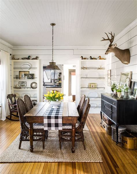 modern rustic farmhouse dining room style onechitecture