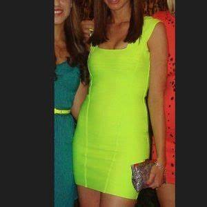 off B Queen Dresses & Skirts Neon yellow bandage