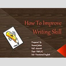 How To Improve English Writing Skill