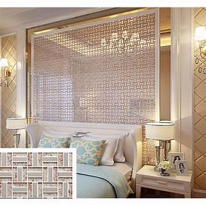 Cream Crystal Glass Tile Backsplash Ideas Bathroom Silver ...