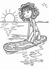 Coloring Pages Surfer Surf Surfing Surfboard Print Waiting Getdrawings Kite Popular sketch template