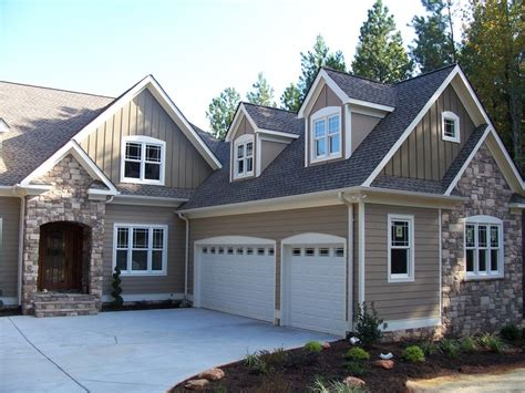 awesome exterior paint color ideas with white garage door