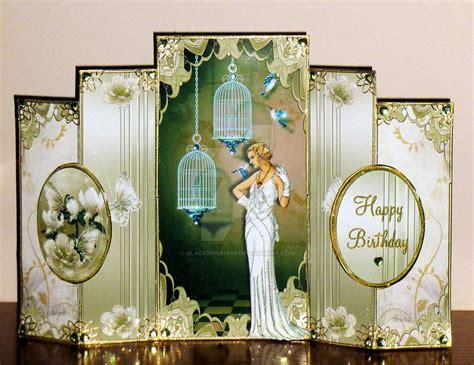 art deco birthday card ritas  blackrose  deviantart