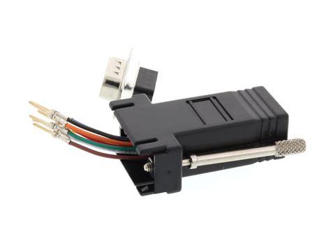 Networx - Modular Adapter Kit - DB9 Male to RJ45 - Black