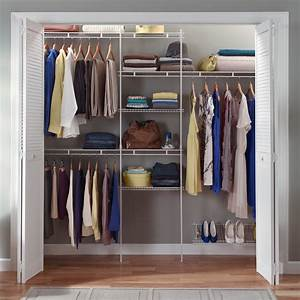 Closetmaid, 5-8, Ft, Closet, Organizer, With, Shoe, Rack