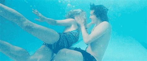 Want To Go For A Swim Kiss Animated Gif Black And White Love Giphy