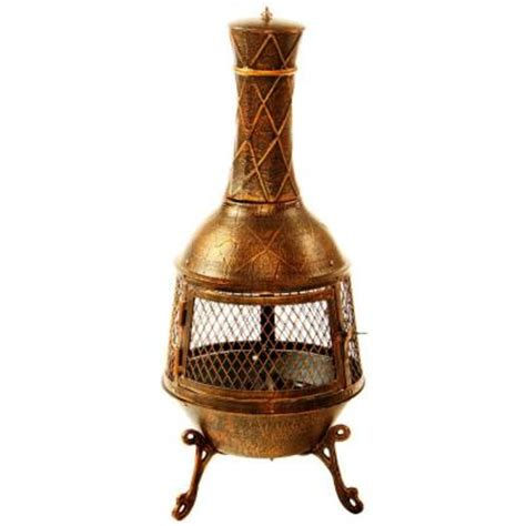 Clay Chiminea Home Depot by Oakland Living 34 In Elite Chimenea 8021 Ab The Home Depot