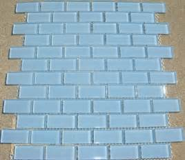 b25 light aqua blue subway glass mosaic tile
