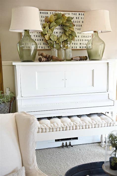piano decor farmhouse living room