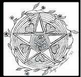 Wiccan Coloring Pages Wicca Pentagram Drawing Samhain Goddess Pagan Printable Symbols Colouring Pentacle Drawings Sheets Children Sketch Books Getdrawings Getcolorings sketch template
