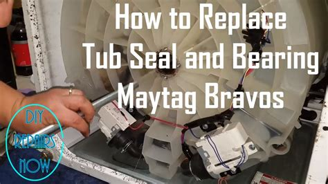 maytag washer leaking from bottom of tub maytag bravos tub seal and bearing kit replacement