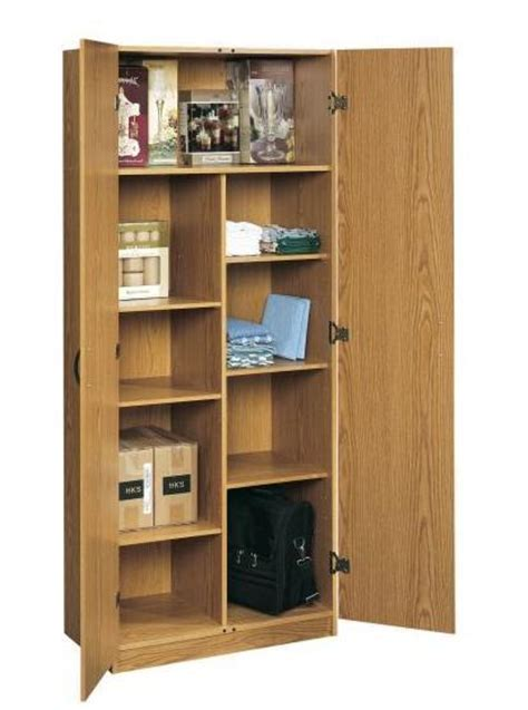 OAK HOME OFFICE STORAGE WALL CABINET ORGANIZER KITCHEN