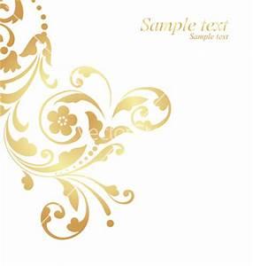 16 Gold Vector Art Designs Images - Gold Floral Design ...
