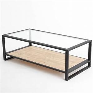 Table Basse Bois Rectangulaire : table basse rectangulaire verre table de salon ronde en bois maisonjoffrois ~ Teatrodelosmanantiales.com Idées de Décoration