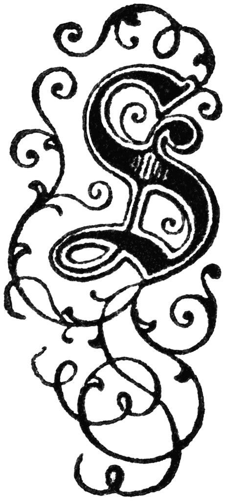 decorative letter  clipart