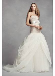 white by vera wang petite tulle wedding dress david39s bridal With wedding dresses for petite brides vera wang