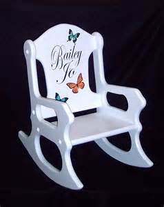 personalized gift toddler rocking chair with butterflies