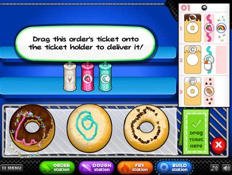 jeux de cuisine de papa louis jouer à papa 39 s donuteria jeux gratuits en ligne avec