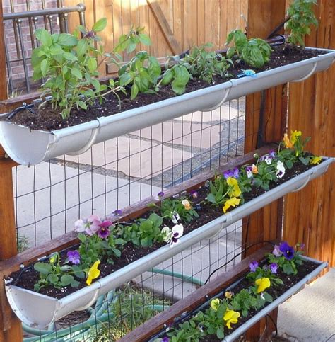 Gutter Vertical Garden by Vertical Garden Gutter Fence Garden