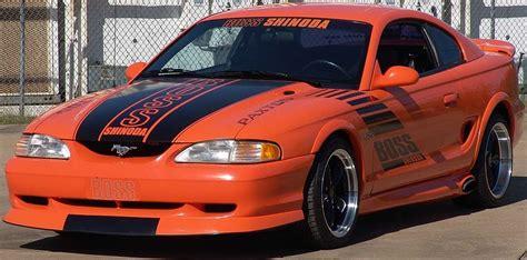 bright tangerine orange  boss shinoda ford mustang