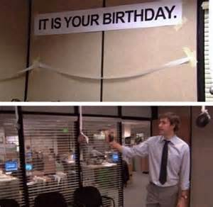 Is It Your Birthday the Office Sign