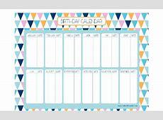 FREE Birthday Calendar Creative Little Parties