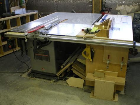 cabinet table saw canada show me your table saw extension wing with router