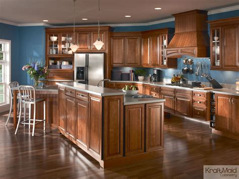 Multi Wood Kitchen Cabinets by An Open Kitchen With A Multi Height Island That S Great