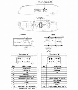 Kia Forte  Power Window Switch Circuit Diagram - Power Windows - Body Electrical System