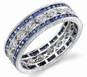 2018 Popular Men39s Wedding Bands With Sapphires