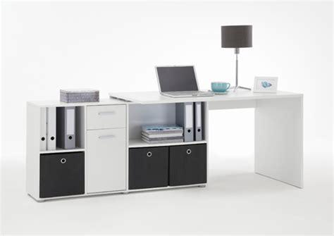 bureau d 39 angle blanc