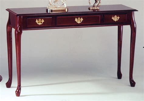 queen anne sofa table homelegance queen anne sofa table with one working drawer