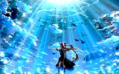 Anime Wallpaper Blue by Air Hd Wallpaper Background Image 1920x1200 Id