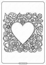 Coloring Heart Printable Flowers Pdf Adult Coloringoo Colouring Valentine Tweet Whatsapp sketch template