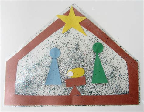 nativity craft for no time for flash cards 883 | nativity scene craft for kids