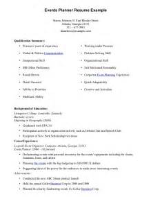 free resume sles download word event planner resume
