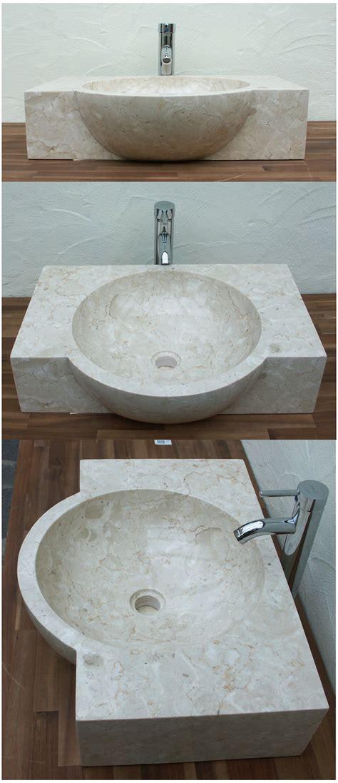 Badezimmermöbel Creme by Waschbecken Mit Ablage Aus Marmor Cremefarben Ein Unikat