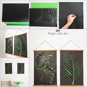 Craft this cool leaf paper wall art for your home fun corner