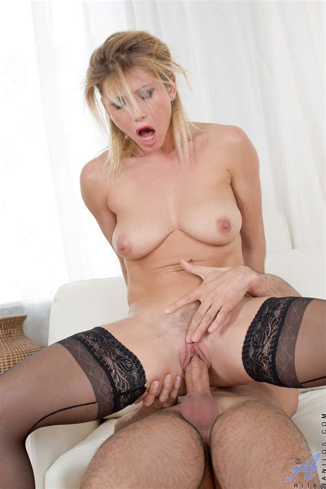 Saucy Russian Milf In Black Nylons Is Eager To Please Her